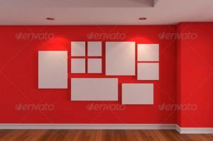 Dinding warna merah