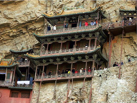 hanging temple heng montain