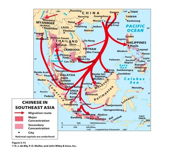 peta jalur migrasi bangsa cina tiongkok ke indonesia