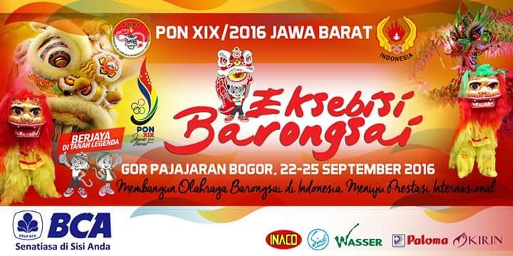 Banner Barongsai Eksebisi PON Jabar