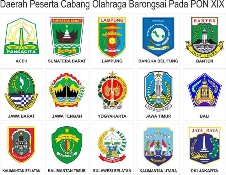 Propinsi peserta cabang olahraga barongsai pada PON XIX