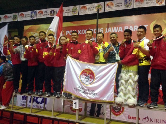 Barongsai Kalimantan Utara meraih medali emas di nomor barongsai taolu bebas