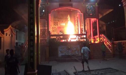 Para Terdakwa Kasus Pembakaran Vihara Tanjung Balai Hanya