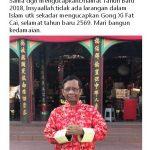 """Mahfud MD mengucapkan """"Selamat tahun baru Imlek 2569, Gong Xi Fat Cai""""."""