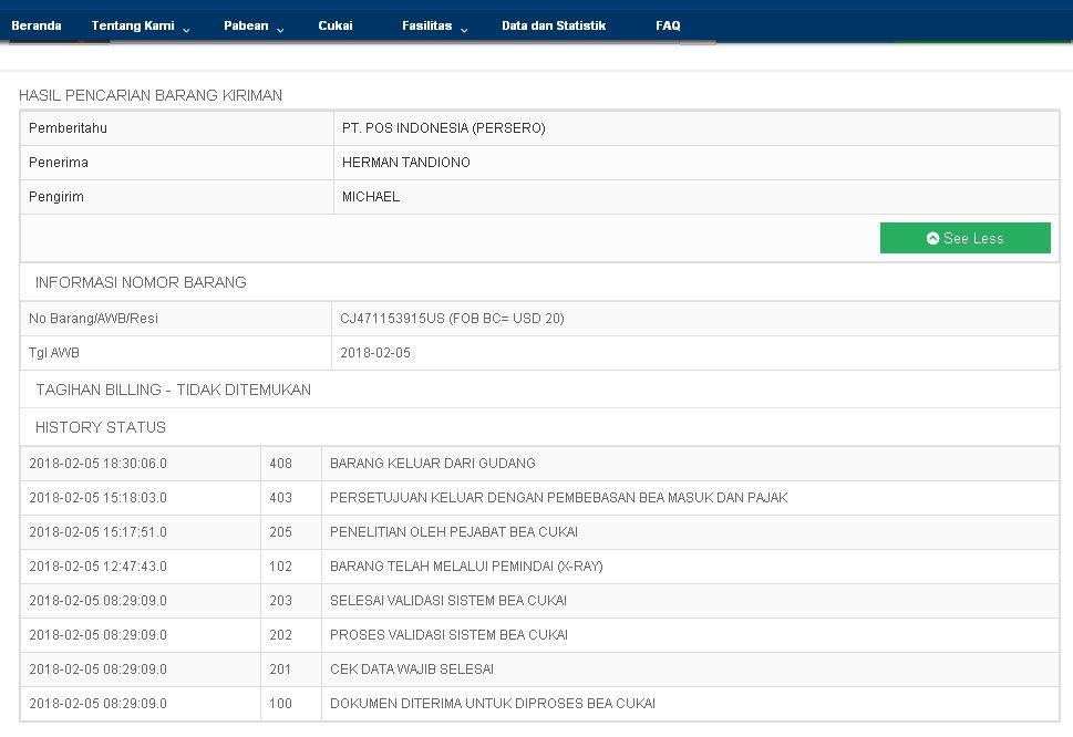 Arti Penjelasan Status Paket Pengiriman Luar Negeri USPS dan EMS ...